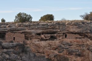 Original cliff dwellings. They have not been restored, just maintained enough to preserve building integrity.