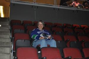 Pre-game Canucks fan.