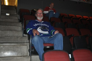 Another pre-game Canucks fan.