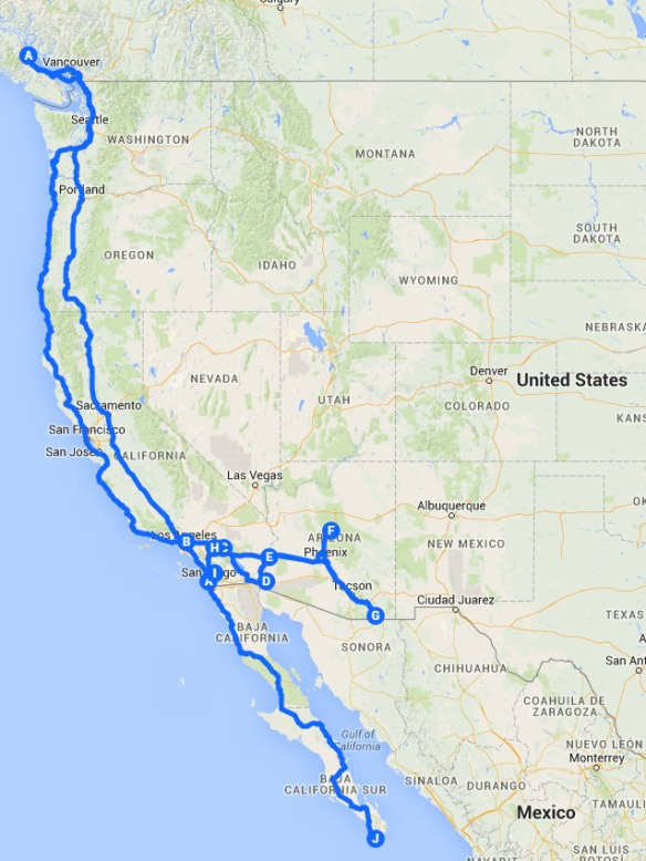 Pasadena Baja Trip 2014-2015
